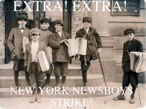 newsies in the industrial revolution thinglink