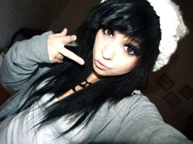 Фото с черными волосами девушек